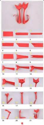 Make Origami Cat Kitten Folding - how to make cat origami crafts cards and paper