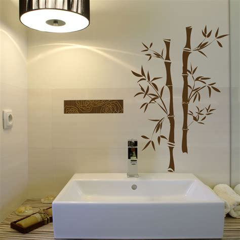 bathroom wall mural ideas asian bamboo vinyl wall decals
