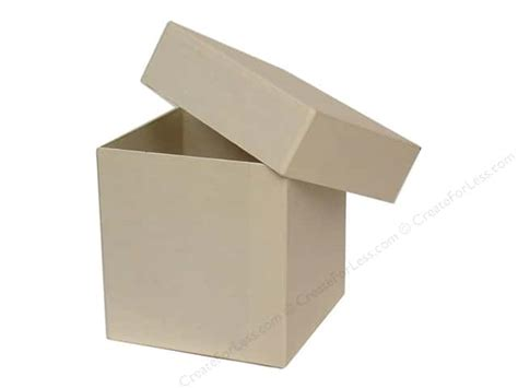 Paper Craft Boxes - paper mache square box vanilla by craft pedlars 12