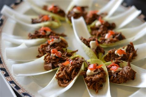 beef canape recipes pulled beef canap 233 with fukujinzuke recipe great