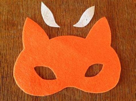 How To Make A Fox Mask Out Of Paper - no sew felt fox mask tutorial fox mask components fox