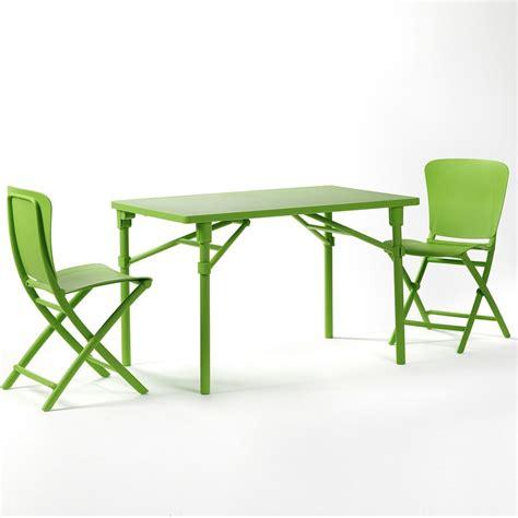 sedie verdi interesting awesome set tavolo e sedie pieghevoli zic zac