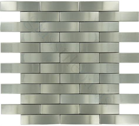 weave 1 quot x 4 quot stainless steel backsplash brushed metal