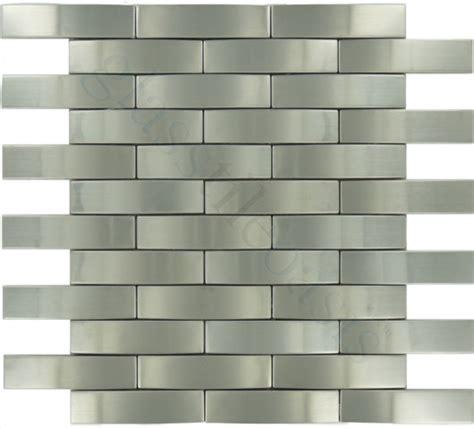 Weave 1 Quot X 4 Quot Stainless Steel Backsplash Brushed Metal Brushed Stainless Steel Backsplash