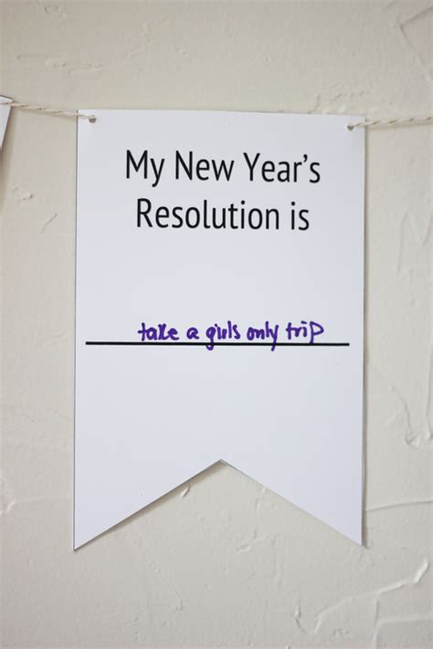 printable new years banner printable new year s resolution banner the flair