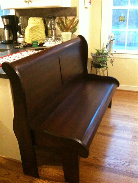 turned  sleighbed   bench woodworking bench