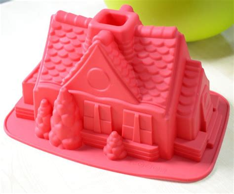 free shipping 1pcs gingerbread house fondant cake pan