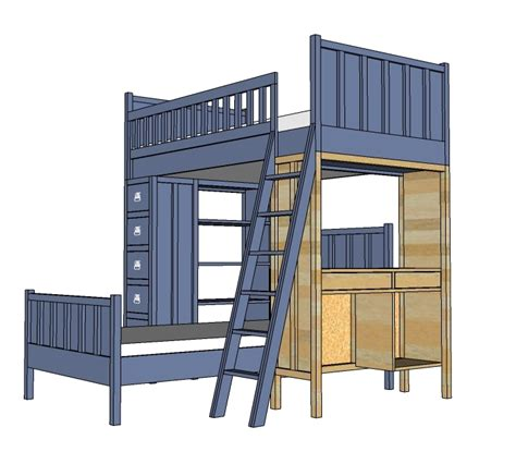 complete  cabin bed plans ambla