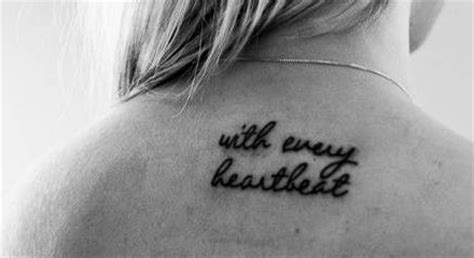 heartbeat running tattoo with every heartbeat tattoo meaning girl gloss