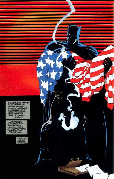 dark knight returns the deconstructing dark knight returns the flag