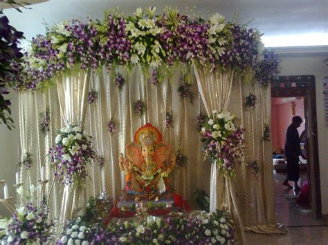 flower decoration for home ganpati decoration photos god wallpapers