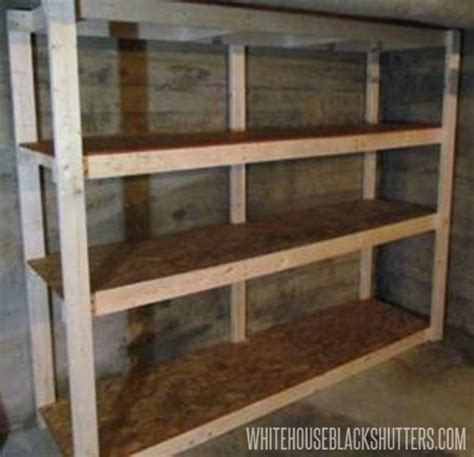 how to make a basement storage shelf home