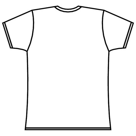 Shirt Outline Eps by T Shirt Layout Vector At Vectorportal