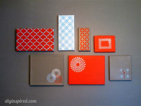diy projects for wall decor shoe box lid wall diy inspired