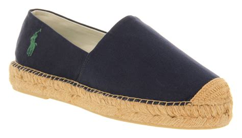 mens ralph mooretown espadrille navy canvas casual