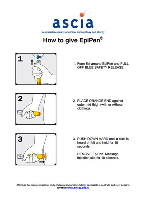 how to give to how to give epipen australasian society of clinical immunology and allergy ascia