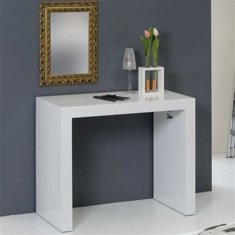 extending console table extending console convertible into dining table eliot