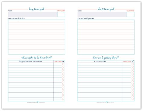 long term to do list printable organize your goals by writing them down goal setting