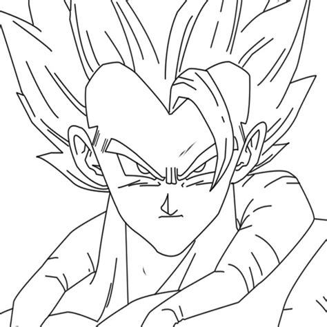 dragon ball z gogeta coloring pages coloriage dragon ball z gogeta kunings coloriage