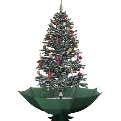 weihnachtsbaum mit schneefall musik led lichterkette ebay