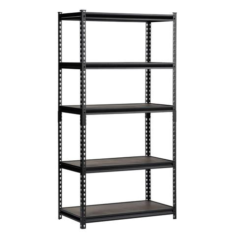 Edsal 72 in. H x 36 in. W x 18 in. D Steel Commercial Shelving Unit in Black UR 185WGB   The