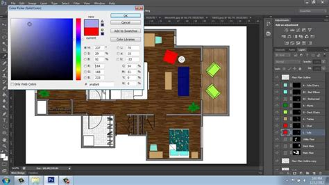 adobe photoshop cs rendering  floor plan part