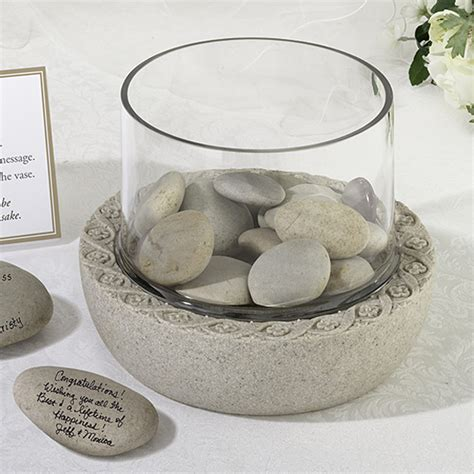 Rocks For Vases by Glass Wedding Signature Vase And Base
