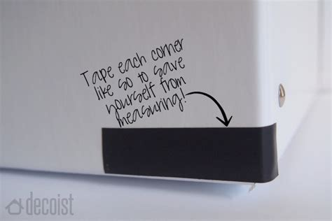 Diy Room Decor Ideas Black And White Diy Black And White Storage Box Using Electrical Tape2014