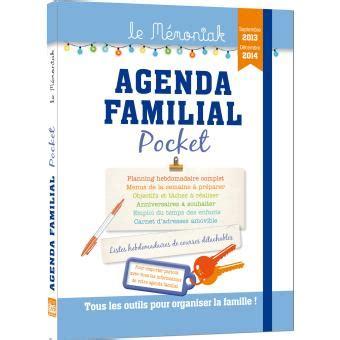 Resume Du Livre L Agenda by Agenda Familial Pocket Le M 233 Moniak 2014 Broch 233