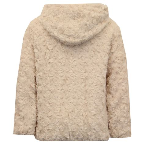 Hooded Knitted Coat jacket coat knitted hooded faux fur lined zip