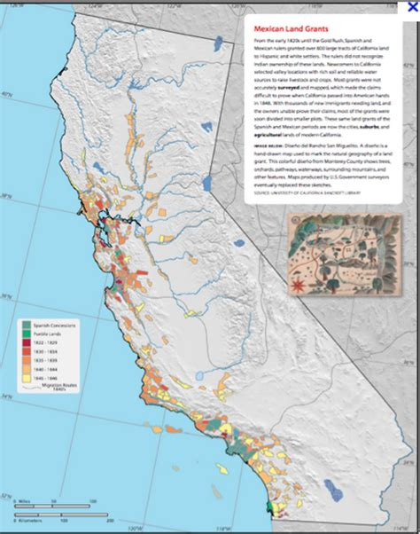 land grants map mexican land grants images