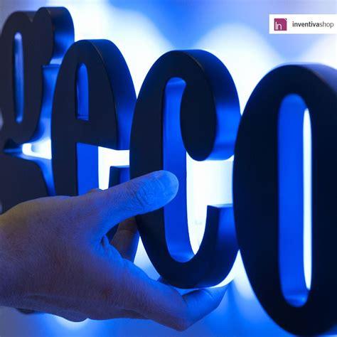 lettere led lettere luminose led con luce indiretta backlit insegne