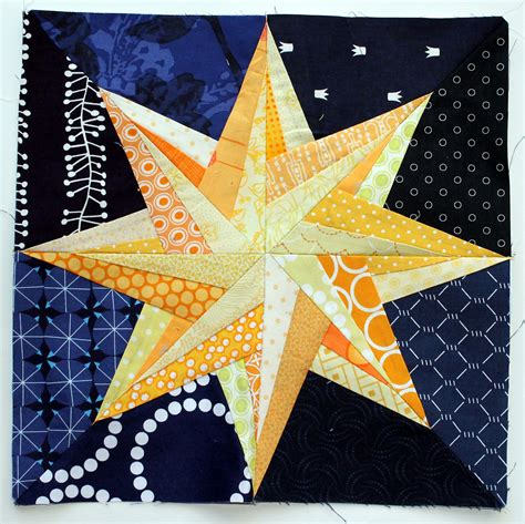 free printable paper piecing quilt blocks starry night paper piecing monday wombat quilts