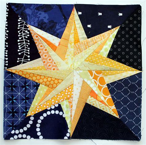 compass star block   WOMBAT QUILTS