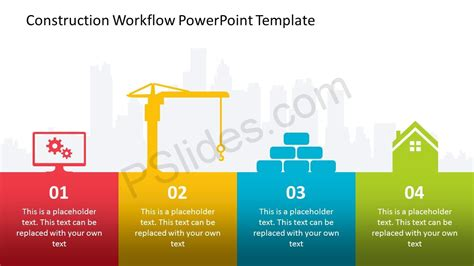 Construction Workflow Powerpoint Template Pslides Workflow Template Powerpoint