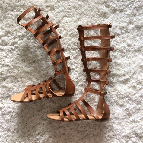 gladiator sandals russe 28 russe shoes brown faux leather