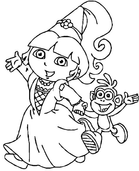 coloring pages free dora print download dora coloring pages to learn new things