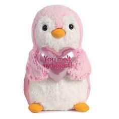 91 Nella Penguin Set Pink stuffed animals and on