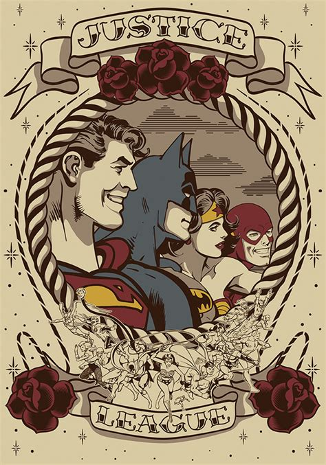 justice league tattoos justice league on behance