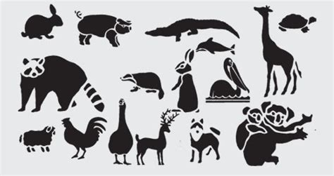 printable zoo animal silhouettes best animal stencils photos 2017 blue maize