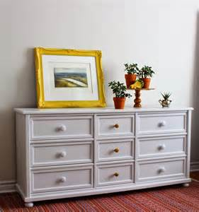 poppyseed creative living light grey dresser with yellow