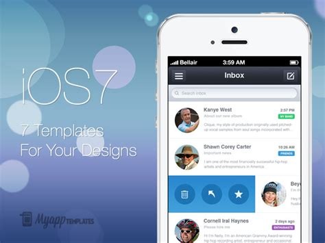seven professionally designed ios 7 templates stacksocial
