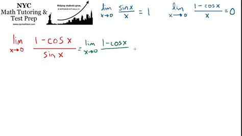 limit approaches infinity calculus limit problem 1 cosx sinx as x approaches 0