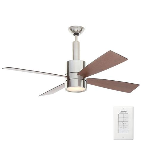 ceiling fan wall control casablanca bullet 54 in indoor brushed nickel ceiling fan