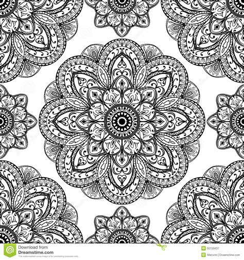 Vector Ornate Pattern Of Mandalas Stock Vector Image 55155637 Ornament Stencil Template
