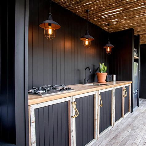 beautiful outdoor kitchens 20 beautiful outdoor kitchen ideas black cabinet
