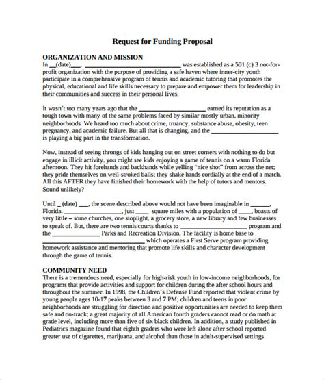 template for funding request 7 funding sles sle templates