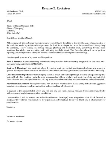 Sle Executive Cover Letters the best cover letter one executive writing resume