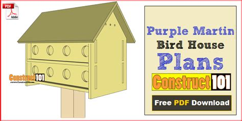 martin house plans purple martin bird house plans 16 unit construct101
