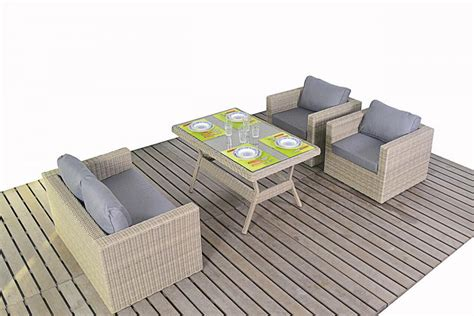 Rural Rattan Sofa Set Dining Table Patio Life Dining Table And Sofa Set